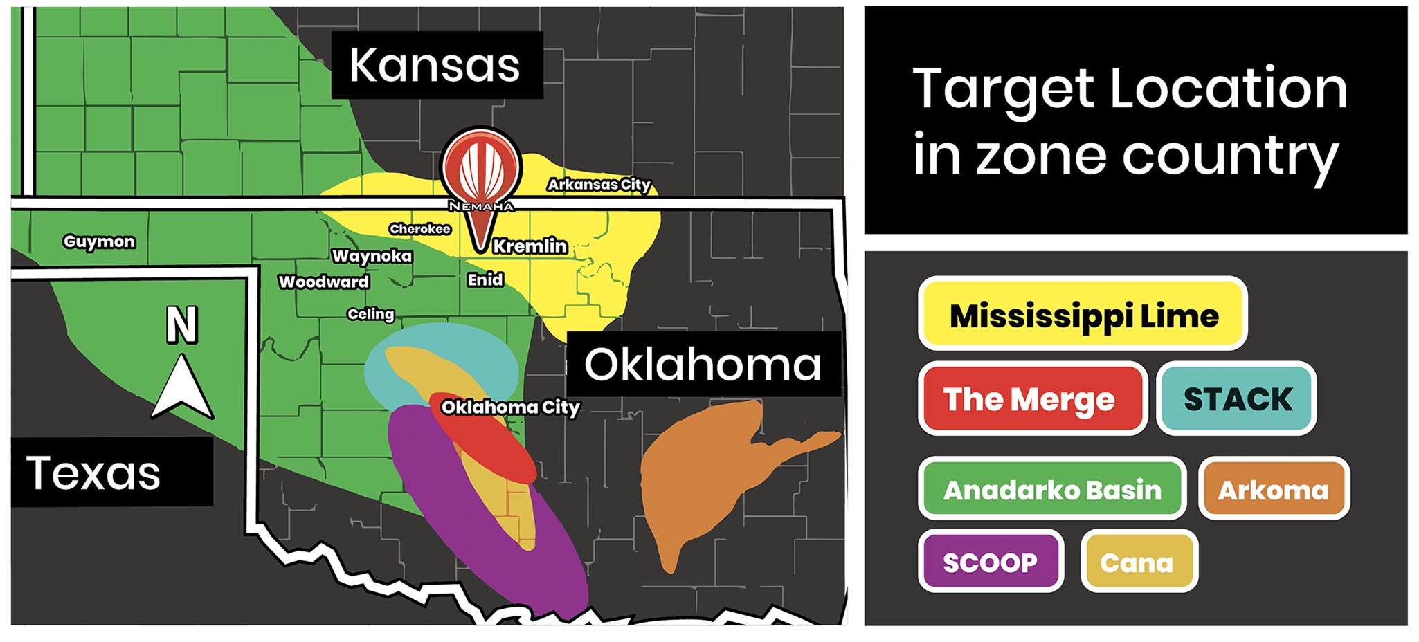 Oklahoma Map - ZONES